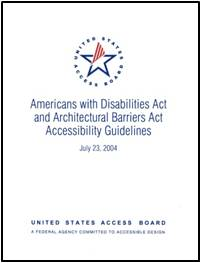 ADA-ABA Accessibility Guidelines cover