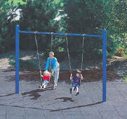 photo of a swing set