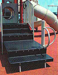 photo of transfer system with shallow steps