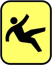 slippery floor warning symbol