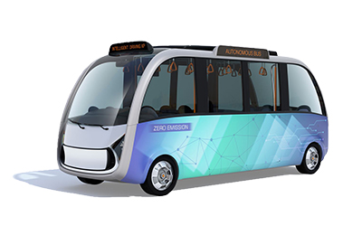 Graphic of Autonomous Bus